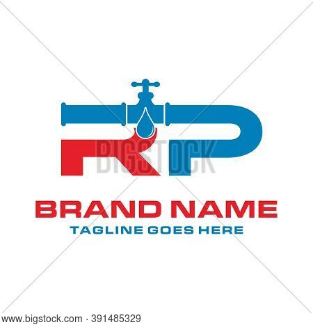Water Pipe Logo Initials Rp Your Company