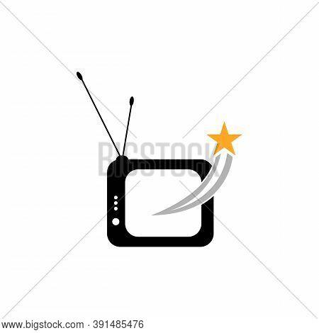 Tv , Lcd, Led, Monitor Icon Vector Illustration Design Logo