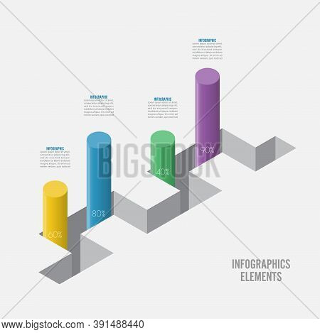Infographic Design Template Can Be Used For Workflow Layout, Diagram, Number Options, Web Design. In