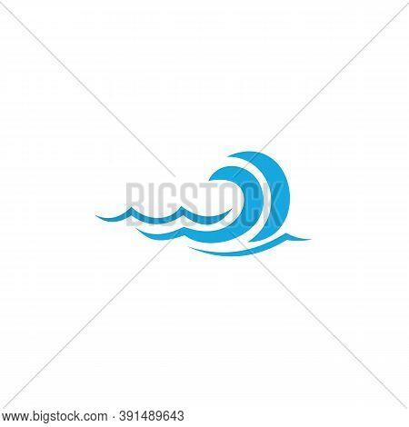 Blue Waves Swoosh Logo. Swoosh Vector Wave