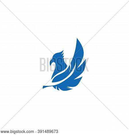 Feather Icon Isolated On White Background. Feather Icon In Trendy Design Style For Web Site And Mobi