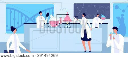 Medical Lab Scientist. Chemical Professionals, Biological Medical Laboratory Researching. Genetic Or