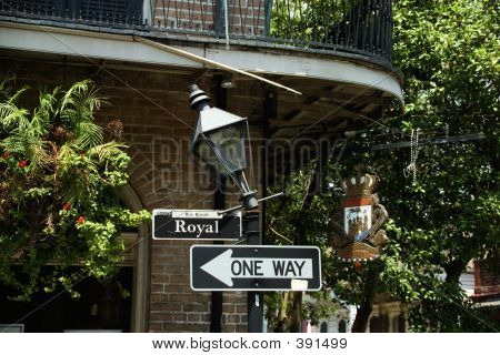 Royal Street Sign In New Orleans