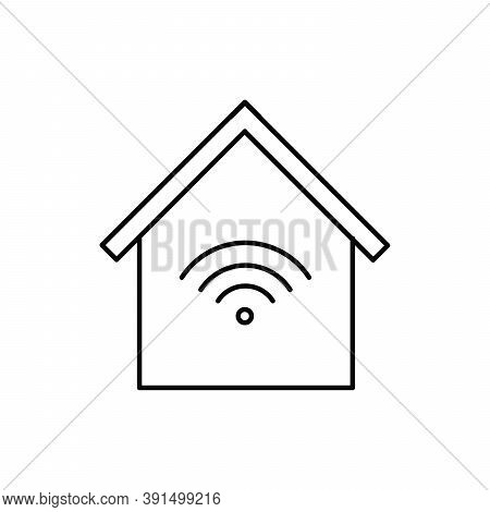 Smart Home Technology Wireless Single Isolated Icon With Line Or Outline Style