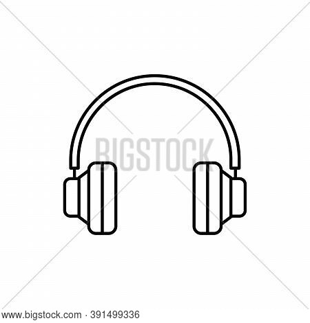 Headphone Device Single Isolated Icon With Line Or Outline Style