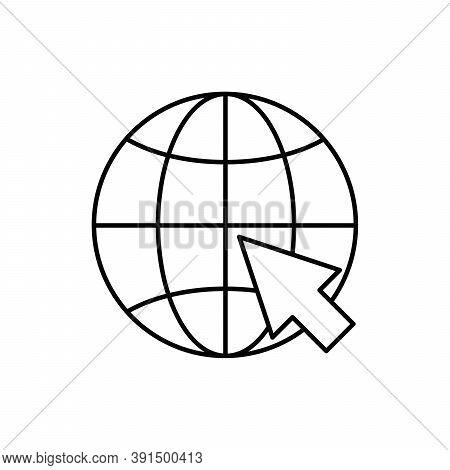 Internet Or Access Website Technology Single Isolated Icon With Line Or Outline Style