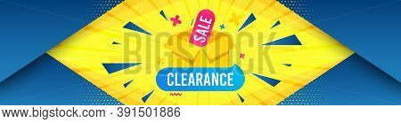 Clearance Sale Banner. Abstract Background With Offer Message. Discount Sticker Box. Special Offer I