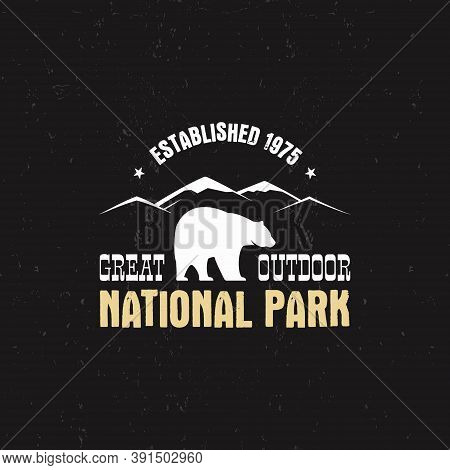 Stamp For National Park, Camp. Tourism Hipster Style Patch, Badge. Expedition Emblem. Winter Or Summ