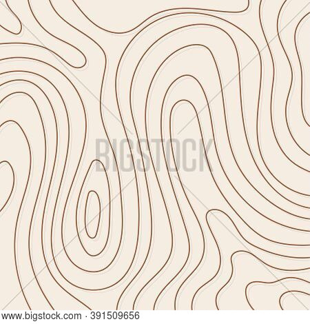 Distorted Wave Texture. Abstract Dynamical Rippled Surface. Vector Stripe Deformation Background. Wo