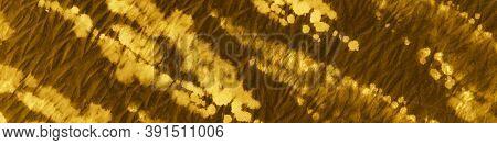 Gold Foil Ikat Design. Tie And Dye Shibori. Water Color Paint Fabric. Dirty Paper Texture. Ikat Patt