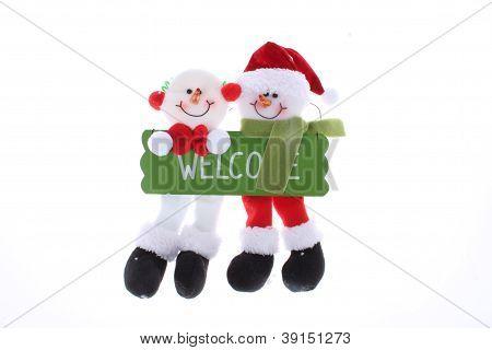 Christmas door ornaments