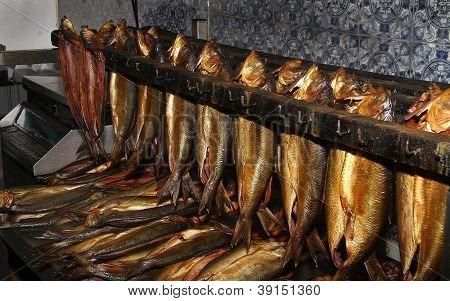 Haddock smoked as Kippers.