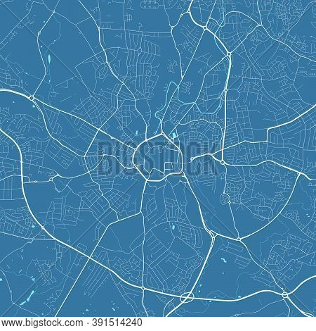 Detailed Map Of Coventry City Administrative Area. Royalty Free Vector Illustration. Cityscape Panor