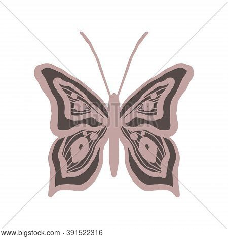 A Graceful Pink And Black Butterfly That Looks Like Dramatic Lace. Elegant And Gothic Stylish Logo F