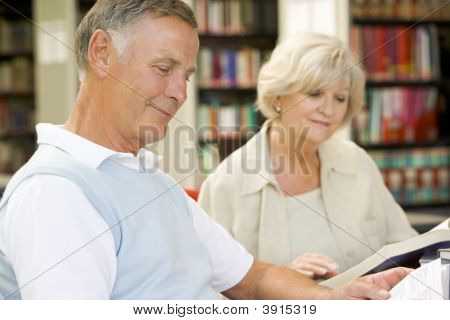 Seniors In Library