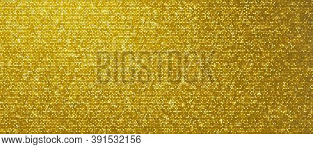 Christmas gold background, glitter golden shine and shimmer pattern. Golden glittery sequins and gold shiny confetti backdrop, Xmas card foil shimmer and tinsel gleam light effect