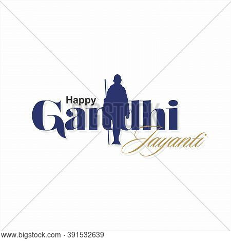 Happy Gandhi Jayanti Banner | Illustration | Beautiful Typography