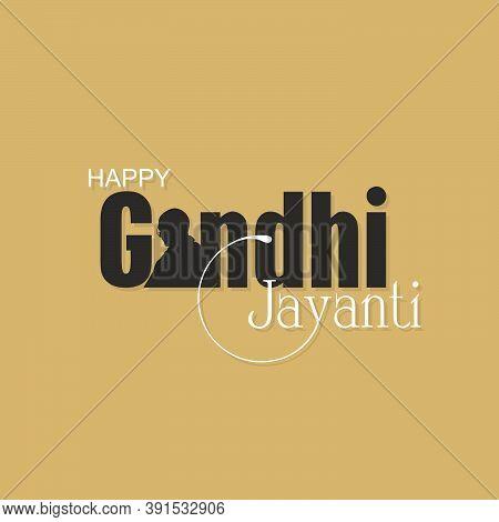 Beautiful Typography Of Happy Gandhi Jayanti | Banner | Illustration