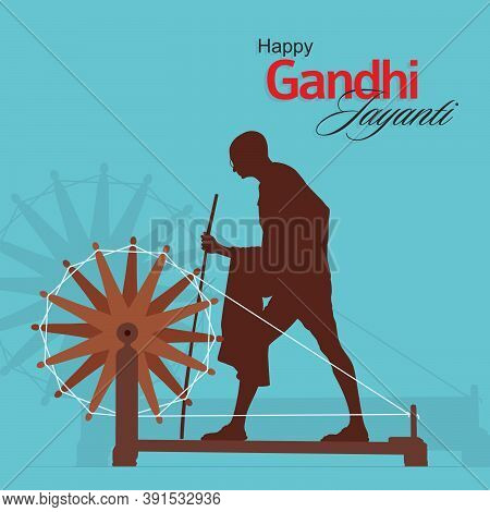 Beautiful Calligraphy Of Happy Gandhi Jayanti | Banner | Typography | Illustration