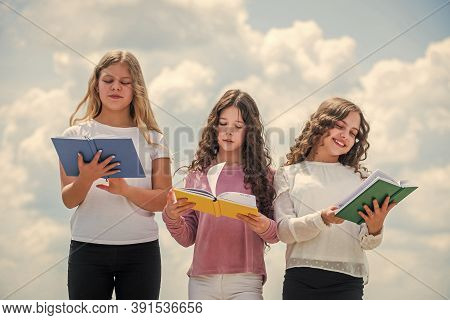 Study Together. Clever Kids. Study Group Help Solidify Clarify Material. Education Concept. School S