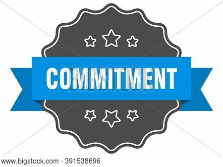 Commitment Label. Commitment Isolated Seal. Sticker. Sign