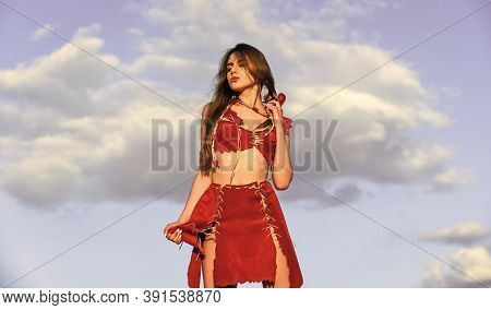 Too Sexy For Her Clothes. Hot Summer Weather. Wild And Dangerous. Beautiful Hairstyle. Sensual Amazo