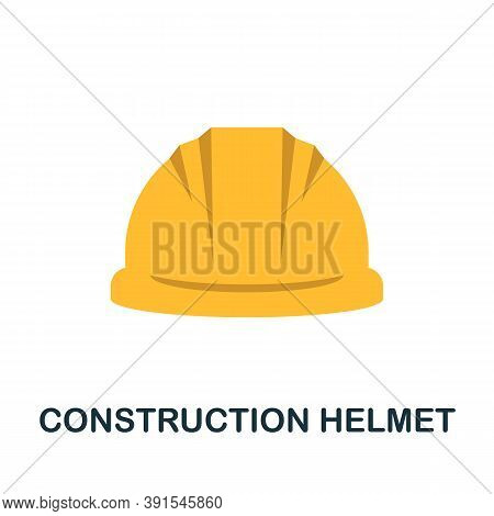 Construction Helmet Icon. Simple Element From Construction Collection. Creative Construction Helmet