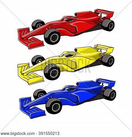F1. F1 Racing Car. F1 Car Vector. Racing Car Illustration. Car Logo. Car Icon. F1 Car Vector Templat