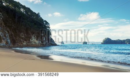 An image of the beautiful beach at Hahei New Zealand