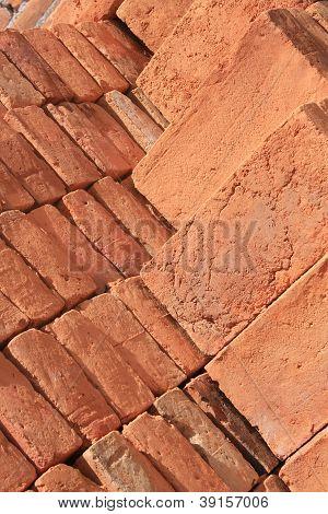 Piled Adobe Bricks