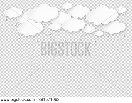Cloud Rain Isolate On Png Or Transparent  Background, Clear Sky With Cloud, Rain Season, Cloudy Day,