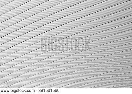 Metal Curved Roof Of Warehouse Texture Background