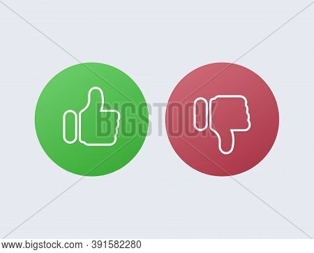 Like Green And Dislike Red. Disapproval And Success Positive Negative Comments Reviews From Satisfie