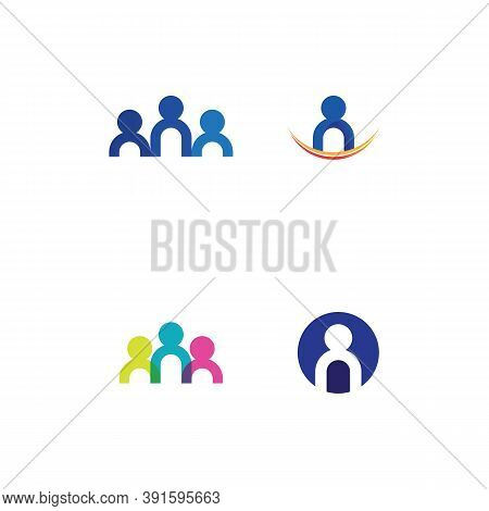 People Community,care Group Network And Social Icon Design Logo And Template