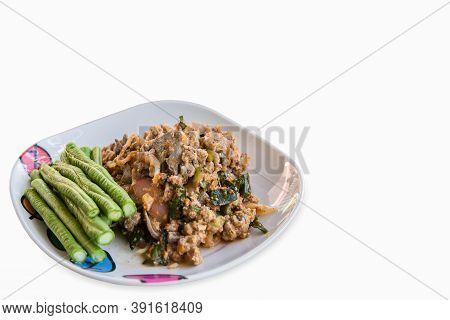 Spicy Minced Pork Salad Or Ground Pork Salad (laab) Is A Thai Food For Health Consists Of Pork Groun