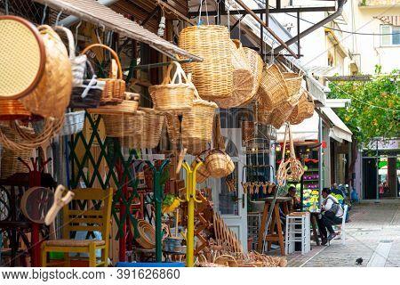 THESSALONIKI, GREECE - November 30, 2019: Commercial Store in Thessaloniki, Greece