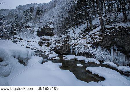 Winter In Ordesa And Monte Perdido National Park, Pyrenees, Spain