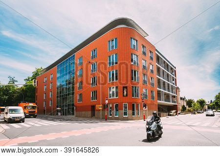 Luxembourg, Luxembourg - June 17, 2015: Building Of The Germany Embassy In Luxembourg.