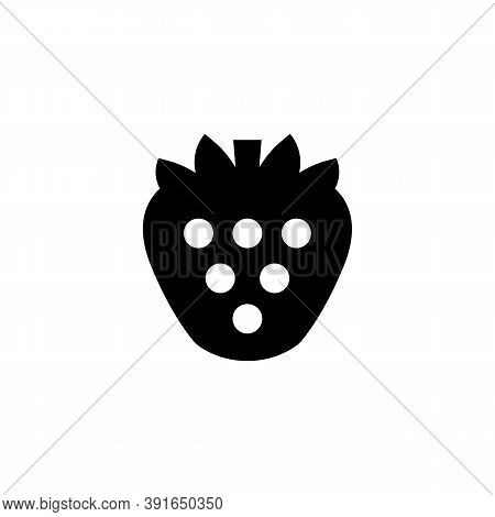 Strawberry Icon In Black. Strawberry Symbol. Vector On Isolated White Background. Eps 10