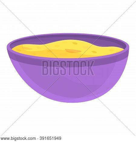 Muesli Bowl Icon. Cartoon Of Muesli Bowl Vector Icon For Web Design Isolated On White Background