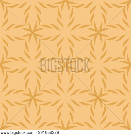 Vector Geometric Seamless Pattern. Simple Ornament Texture With Crosses, Lines, Flower Shapes, Grid,