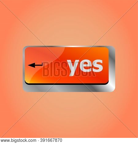 Computer Keyboard Key With Yes Key - Business Technology
