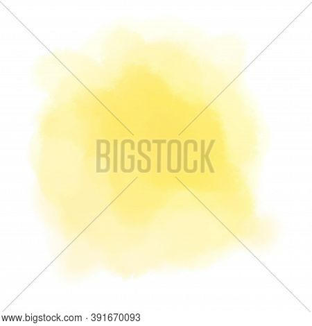 Colorful Watercolor Spot On Isolated White Background. Colored Aquarelle Splotch