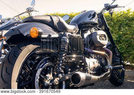 Classic Custom Harley Davison Motorbike, Vintage Style From Western Australia, 2019