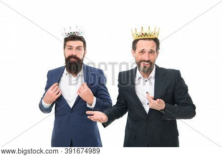 Vip Concept. Rich And Powerful People. Bearded Men. Elite Community. Royal Benefits Club. Men Wear C