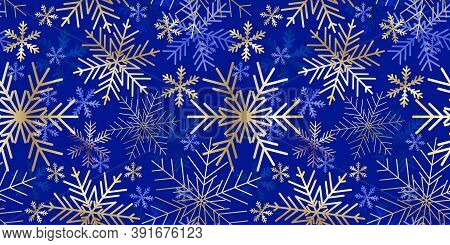 Snowflakes Background. Winter Seamless Pattern. Christmas Card. Snowflakes Background. Winter Seamle