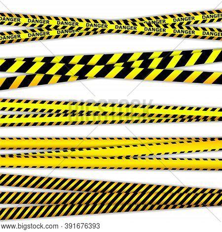 Quarantine Zone Warning Tape. Novel Coronavirus Outbreak. Global Lockdown. Crime Scene Yellow Tape,
