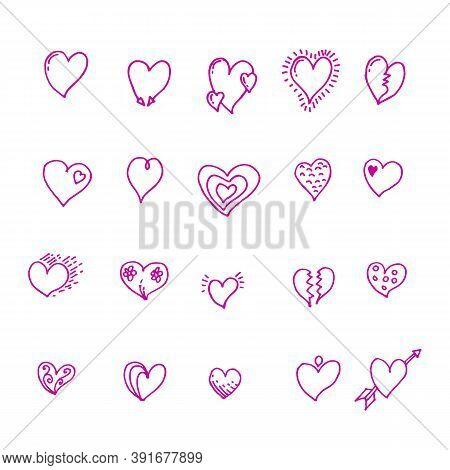 Heart Icon. Simple Heart, Love Logo. The Iconic Sign Of Love. Heart Icon Vector, Illustration Vector