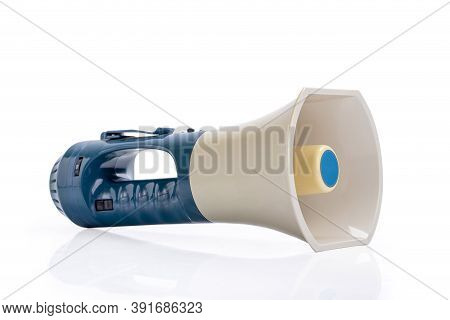 Electronic Megaphone Isolated On A White Background
