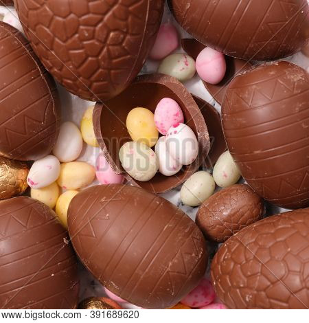 easter egg- chocolate egg and candy